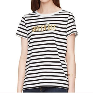 Kate Spade Broome Street Queen Bee Striped tee